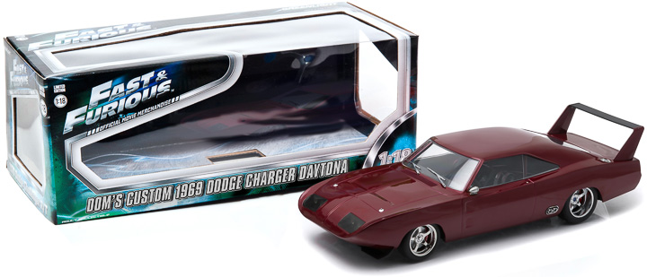12800-BB - 1-18 Fast and Furious - 1969 Dodge Charger Daytona - Furious 6 - Window Packaging (Car Outside, b2b)